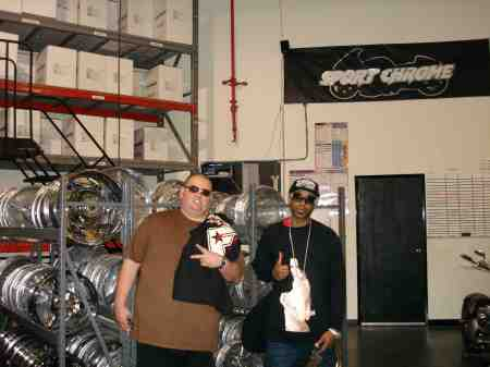 chillen at my boy Big Jon at his shop www.sportchrome.com
